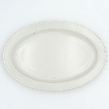 CHIPS Ancient Pottery OVAL PLATE white AP004wh