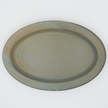 CHIPS Ancient Pottery OVAL PLATE gray AP004gy